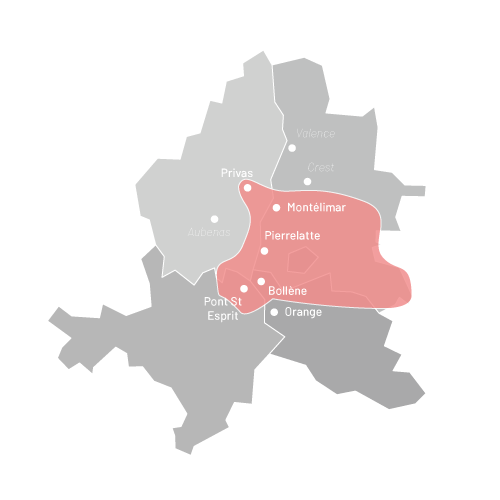 Carte d'intervention Tradibati Constructions à Montélimar